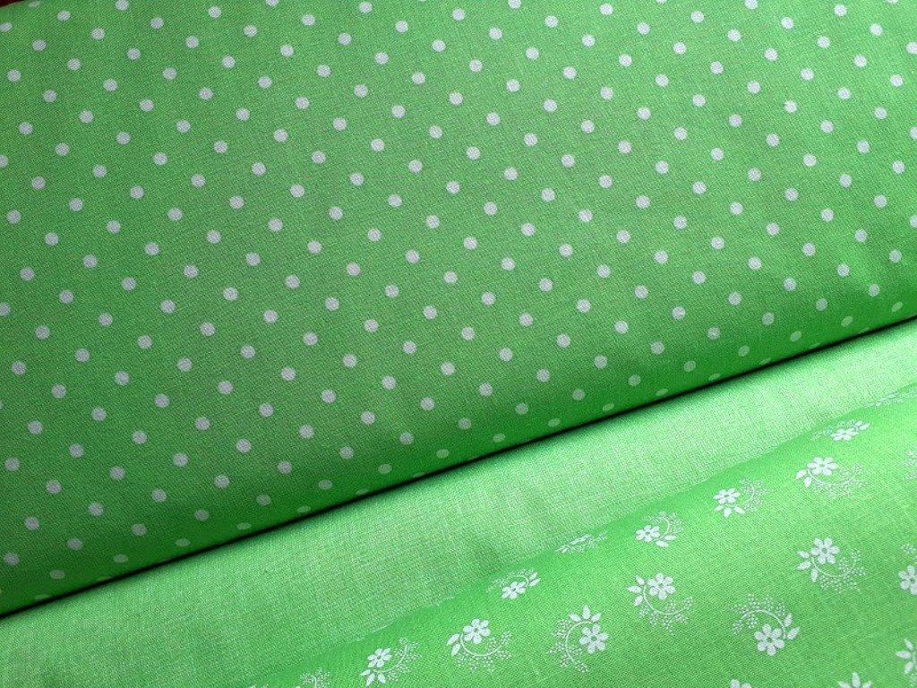bile puntiky pastelova zelena latka kombi3