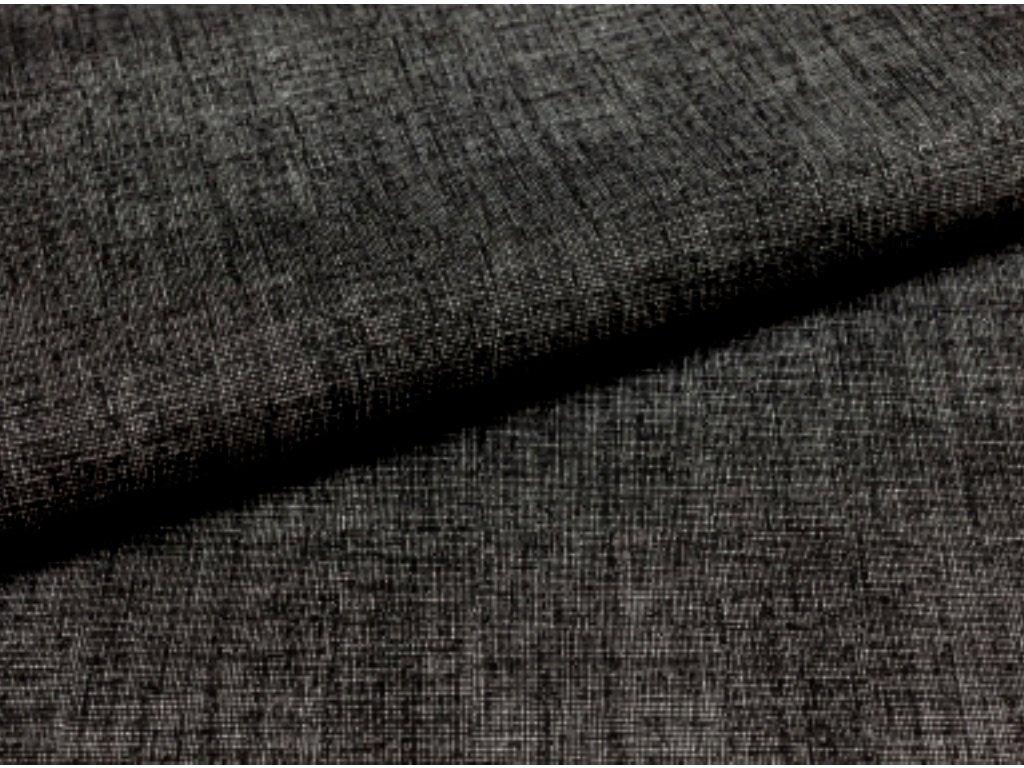 Balíček zbytků - Černá látka - lněný efekt - režná látka - metráž