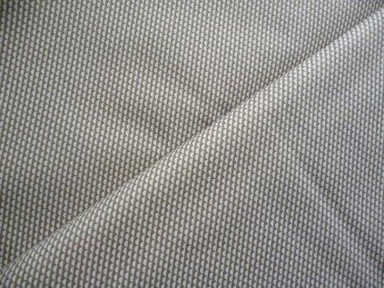 Obloučky-bílá a béžová látka