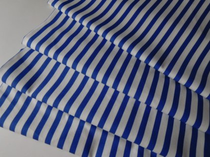 ZBYTEK 2m - Proužek střední-bílo modrý - metráž