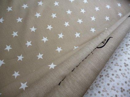 Bílé hvězdy béžová kolekce kombinace