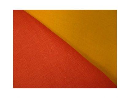 Temná žlutá-látka-plátno-bavlna