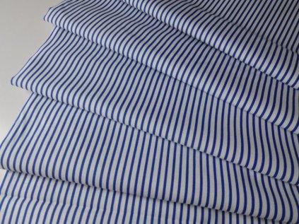 ZBYTEK 1,3m - Proužek tenký-bílo modrý - metráž