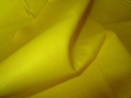 Žlutá látka-plátno-bavlna