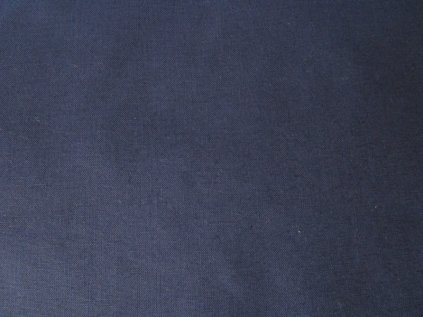 Tmavě modrá látka-plátno-bavlna
