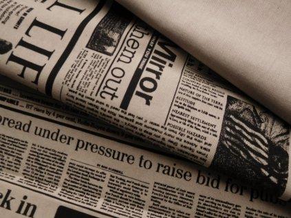 Novinový tisk-černý na režném podkladu