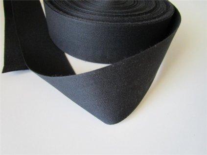 Tkaloun černý - keprovka - 50mm