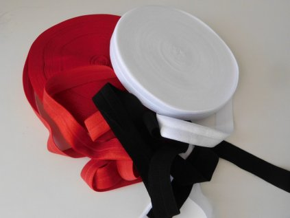 Lemovací pruženka půlená - 19mm - různé barvy