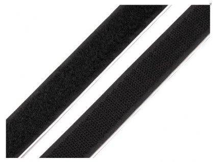 Suchý zip komplet-černý-20mm