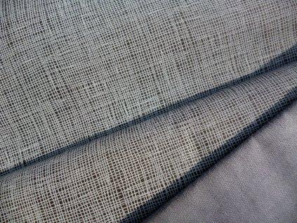 P1040126 lněný efekt na tmavě šedé modrošedá mřížka