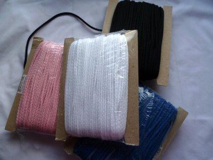 P1050305 oděvní šňůry bavlna více barev