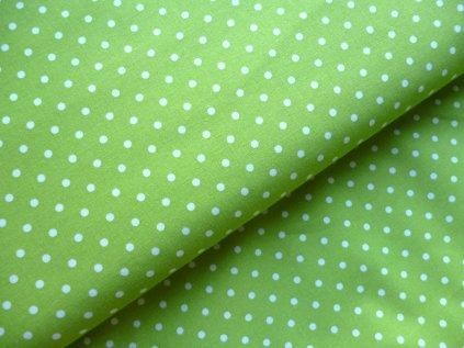 bile puntiky svetle zelena latka jarni latky 150 cm 2