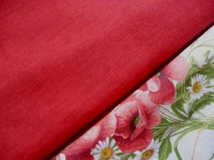 cervena smesova dekoracni potahova latka metraz