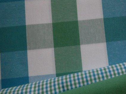 kanafas kostka 3 5 cm pastel modra zelena