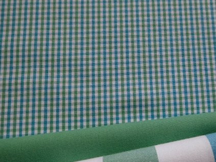 kanafas kosticka zelena modra