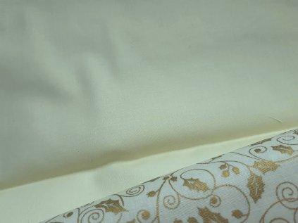 Smetanová látka vánoční-plátno-bavlna