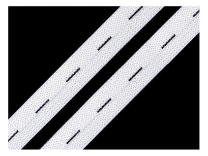 Pruženka dírková 20 mm - guma - více barev