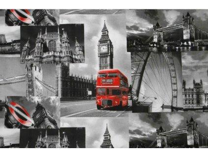 londyn london platno bavlna metraz 160cm