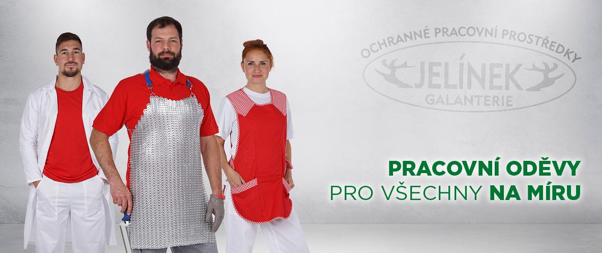 Pracovní oděvy vlastní výroby