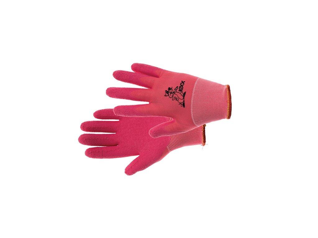 LOLLIPOP rukavice nylon. latex. růžová 4