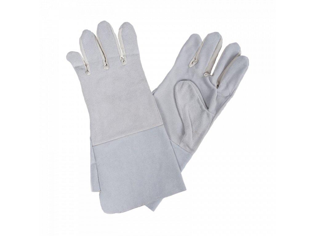 Celokožená rukavice s prodlouženou manžetou