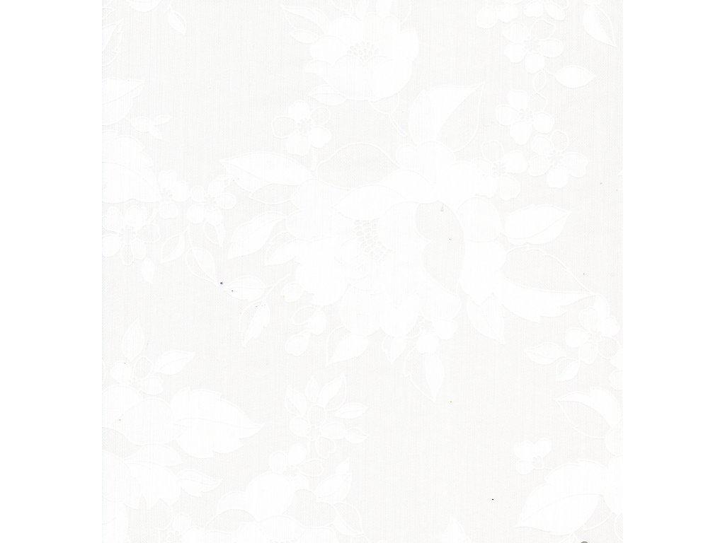 Ubrusovina 6024 -Damašek bílý