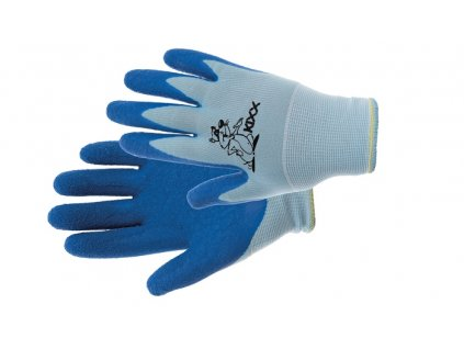 CHUNKY rukavice nylon. latex. dl modrá 4