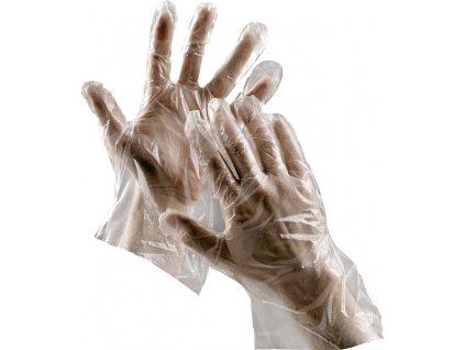 DUCK rukavice jendoráz.polyethylenové