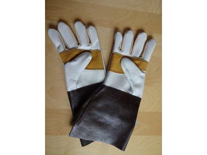 Rukavice celokožená s prodlouženou manžetou s vyztužením dlaně