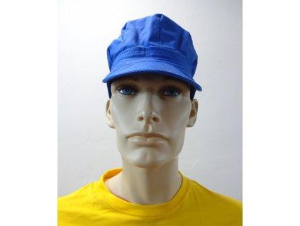 pracovní kšiltovka - modro žlutá