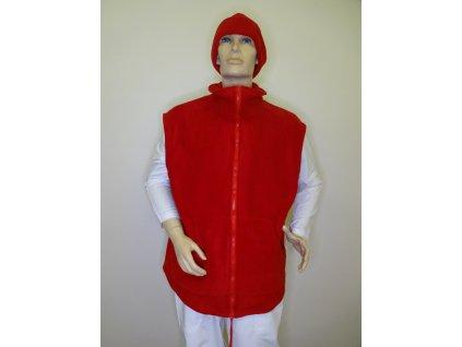 Fleecová vesta prodloužená délka