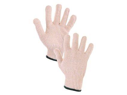Textilní rukavice FLASH, bílé, vel. 08