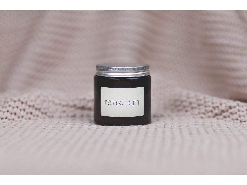 RELAXUJEM - Sójová sviečka Jemnô 90g v tmavom skle