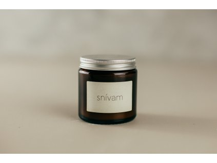 SNÍVAM - Sójová sviečka Jemnô 90g v tmavom skle