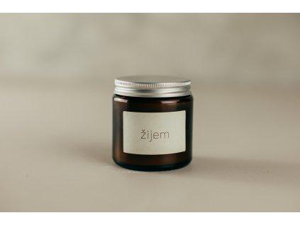 ŽIJEM - Sójová sviečka Jemnô 90g v tmavom skle