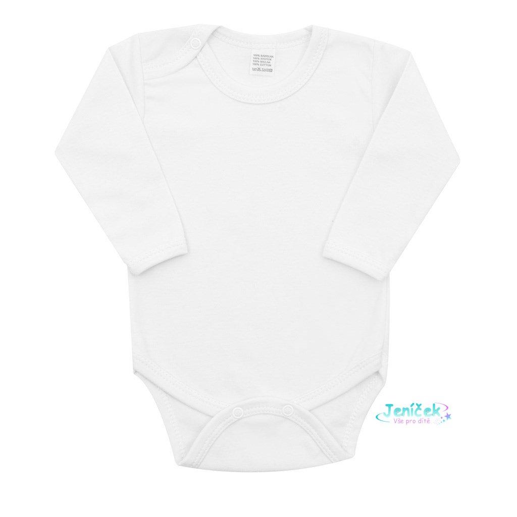 Body dlouhý rukáv New Baby - bílé