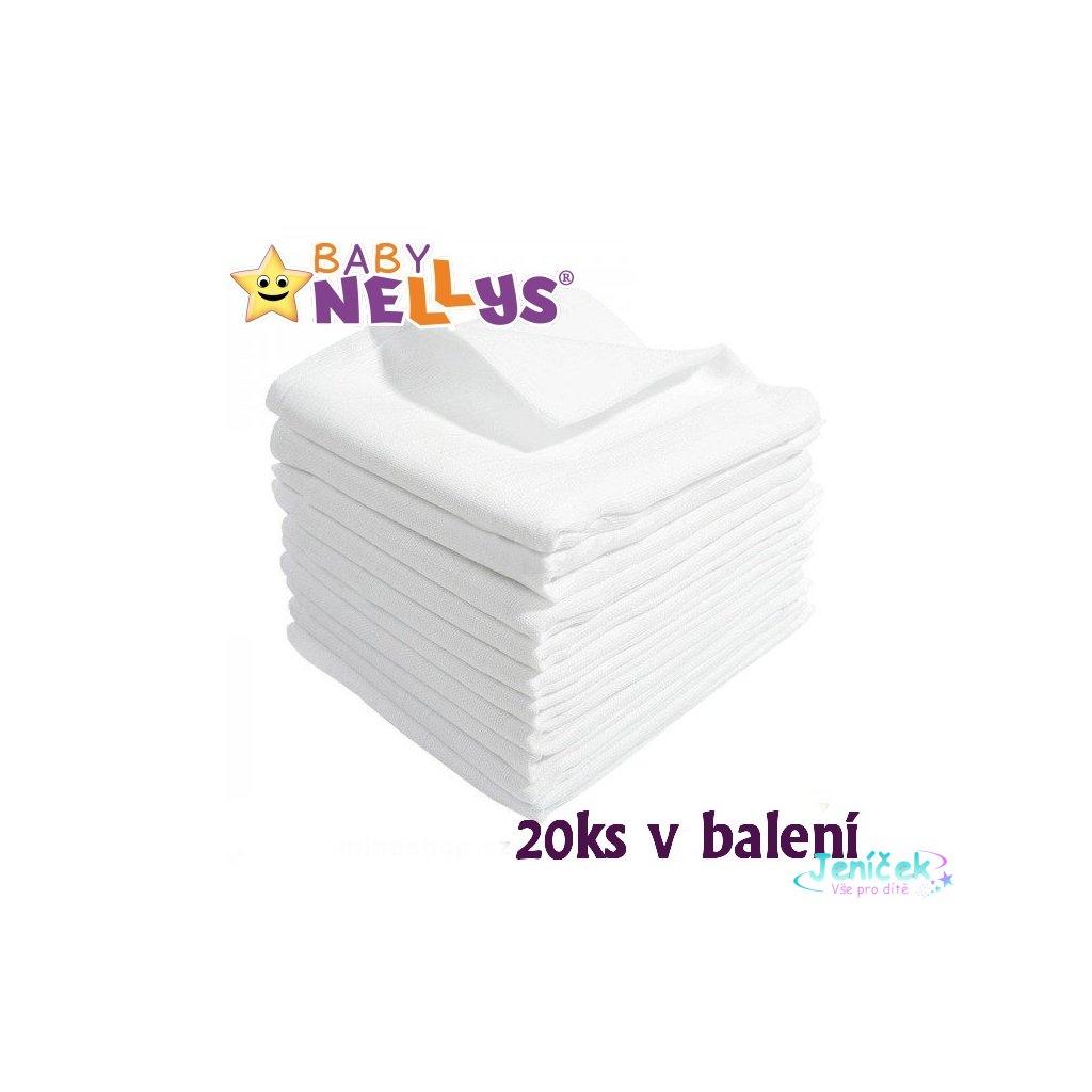 Kvalitní bavlněné pleny Baby Nellys - TETRA LUX 60x80cm, 20ks v bal.