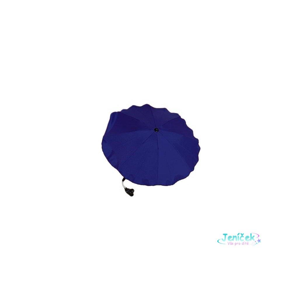 Slunečník na kočárek modrý tmavý