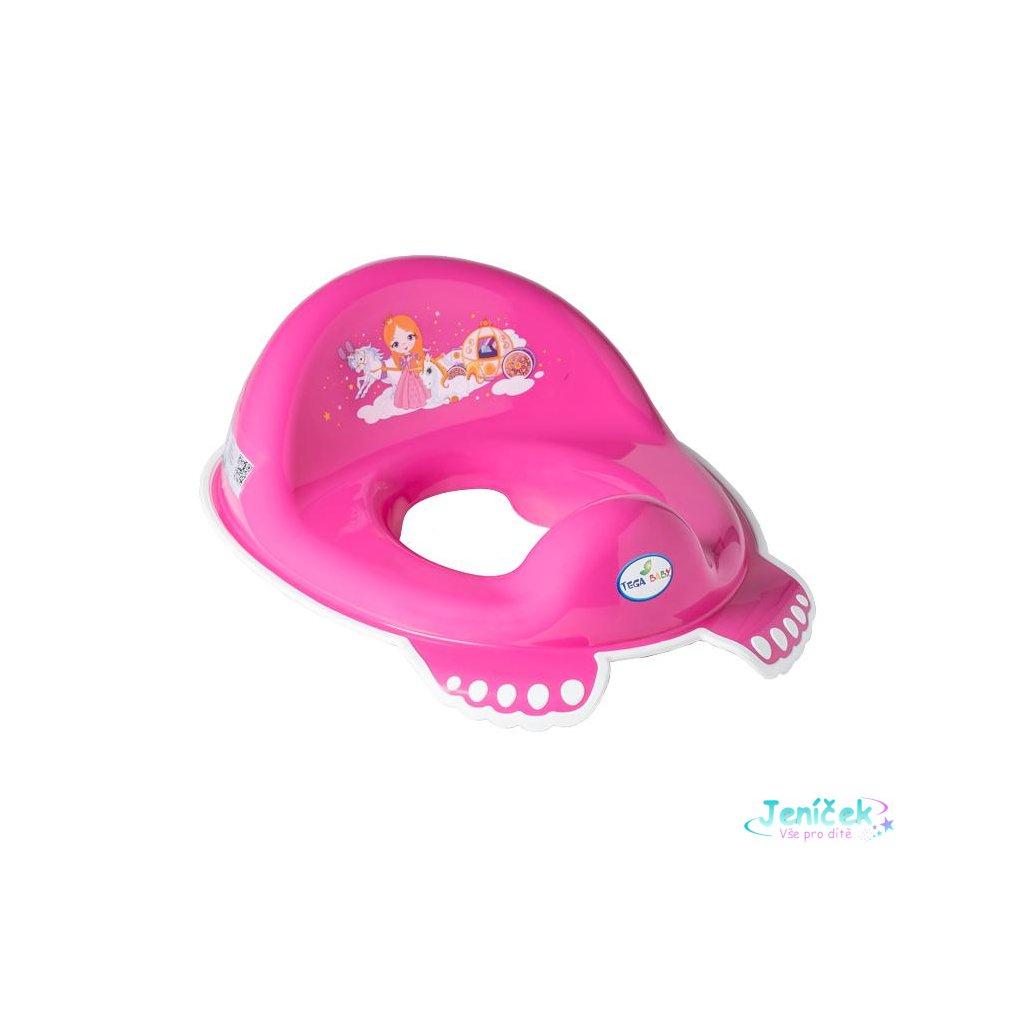Dětské protiskluzové sedátko na WC Malá Princezna růžové