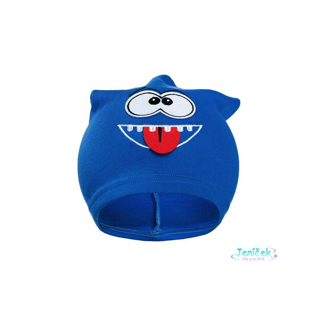 Podzimní dětská čepička New Baby smíšek modrá