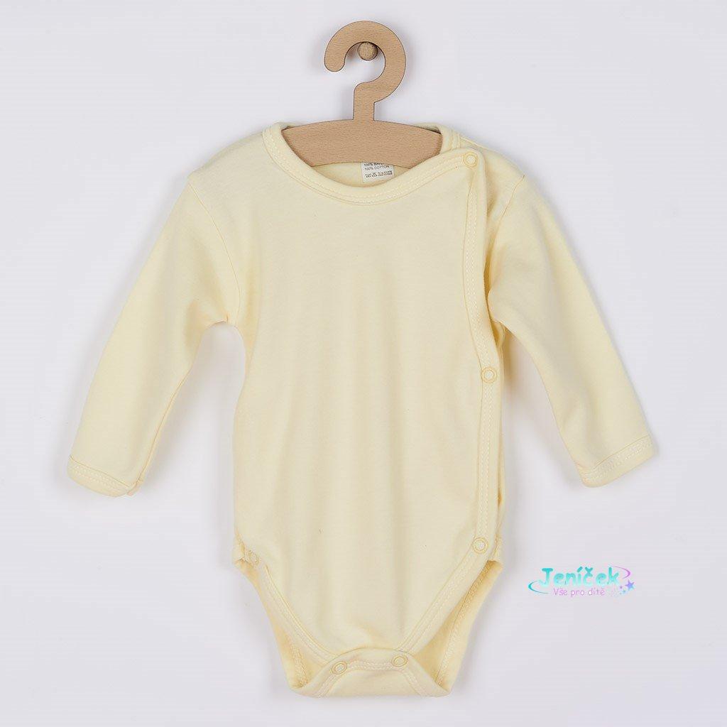 Kojenecké body celorozepínací New Baby Classic žluté