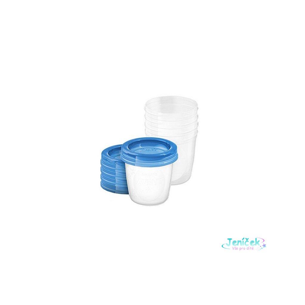 Sada Via pohárků s víčkem Avent 180 ml - 5 ks