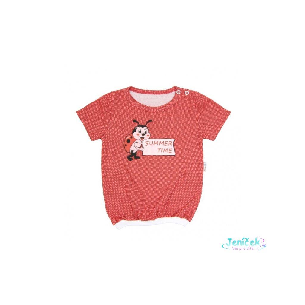 Tričko krátký rukáv Mamatti - Brouček v létě
