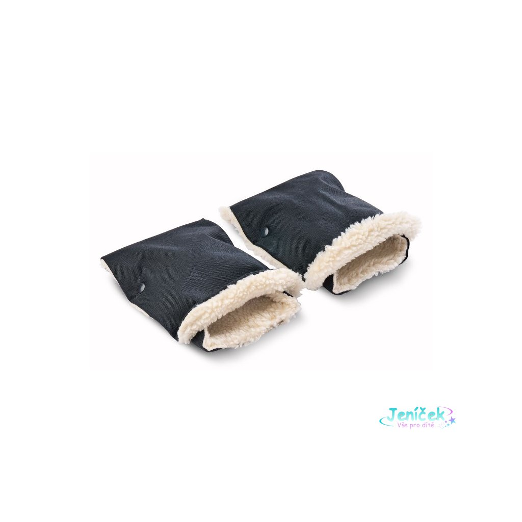 Rukávník na kočárek 2 ks Sensillo 45x21 black