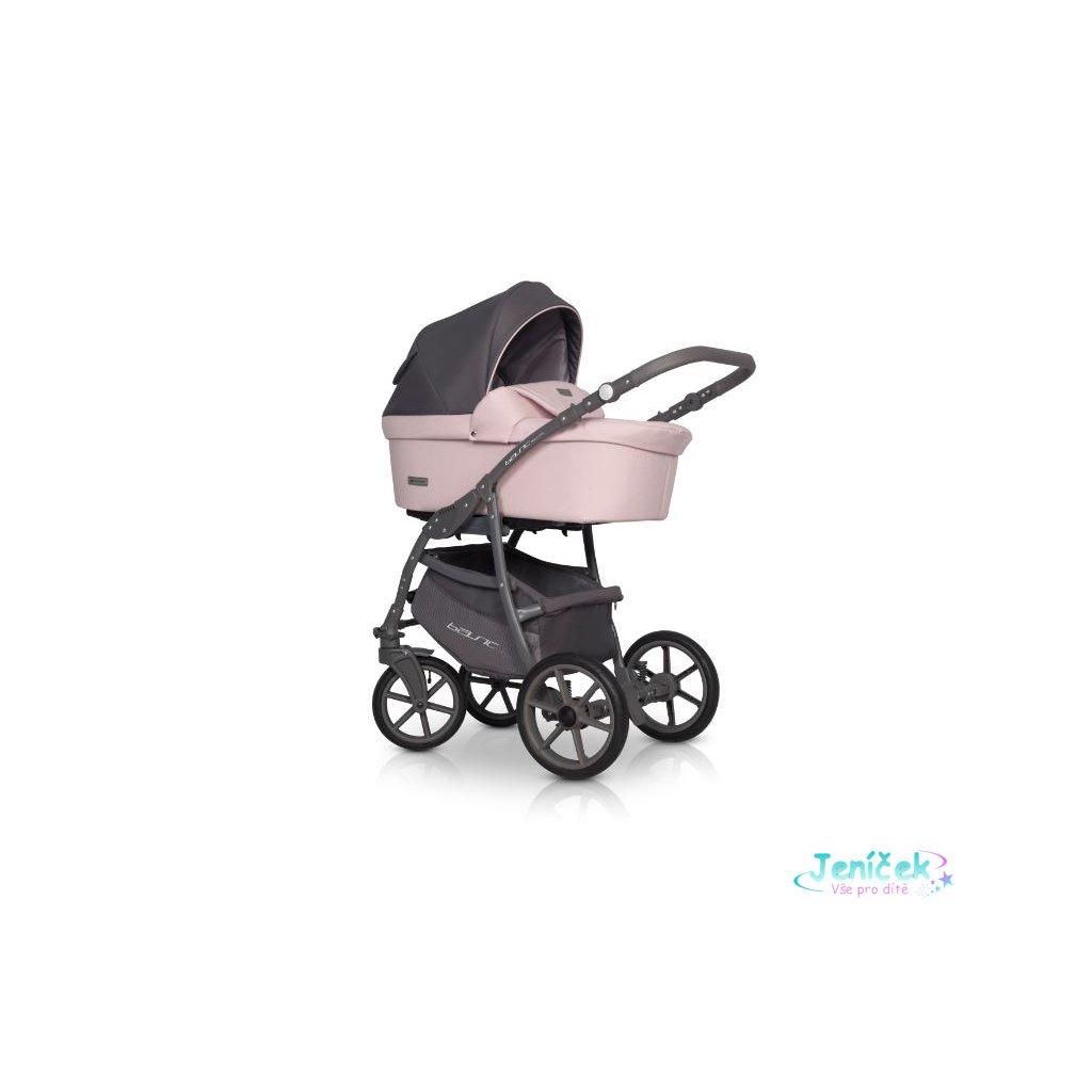 Kočárek Riko Basic Pastel 3v1, 2019 - pink