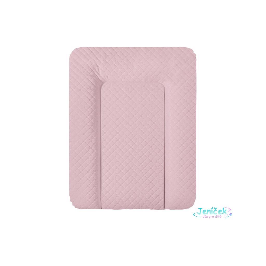CEBA Podložka přebalovací na komodu měkká 70 x 50 cm CARO Pink Ceba