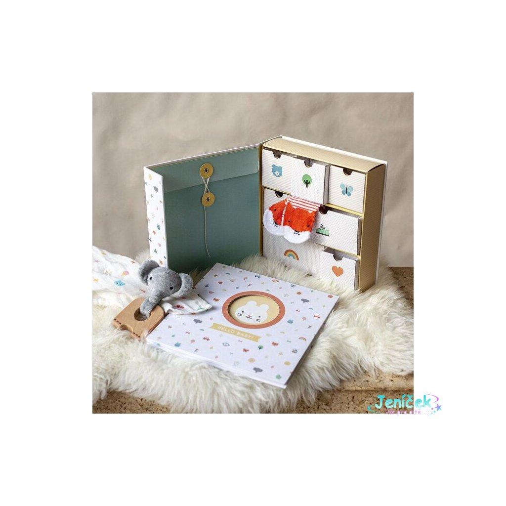 Petitcollage Krabička vzpomínek Baby poškozená krabička
