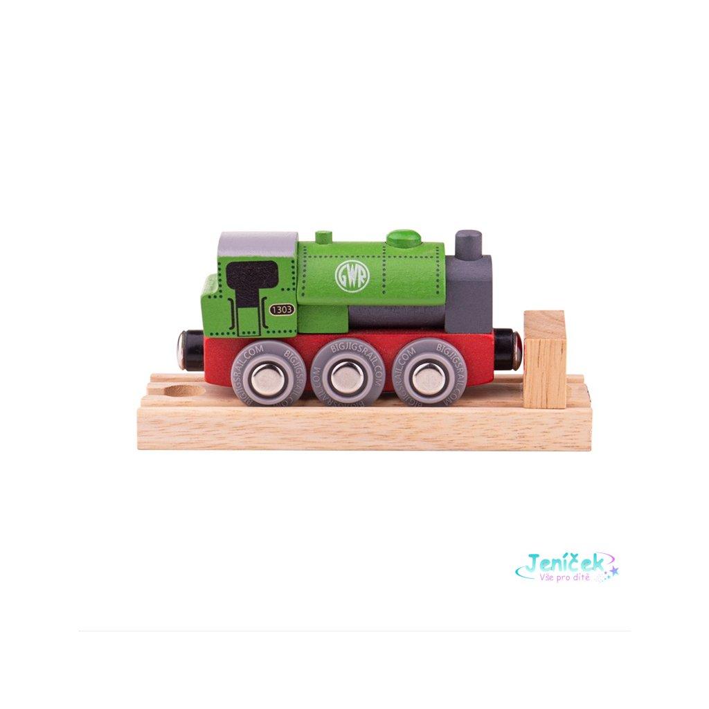 Bigjigs Rail Dřevěná lokomotiva GWR zelená