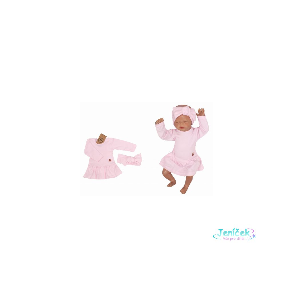 Z&Z 2-dílná sada sukničkobody + čelenka - růžová V