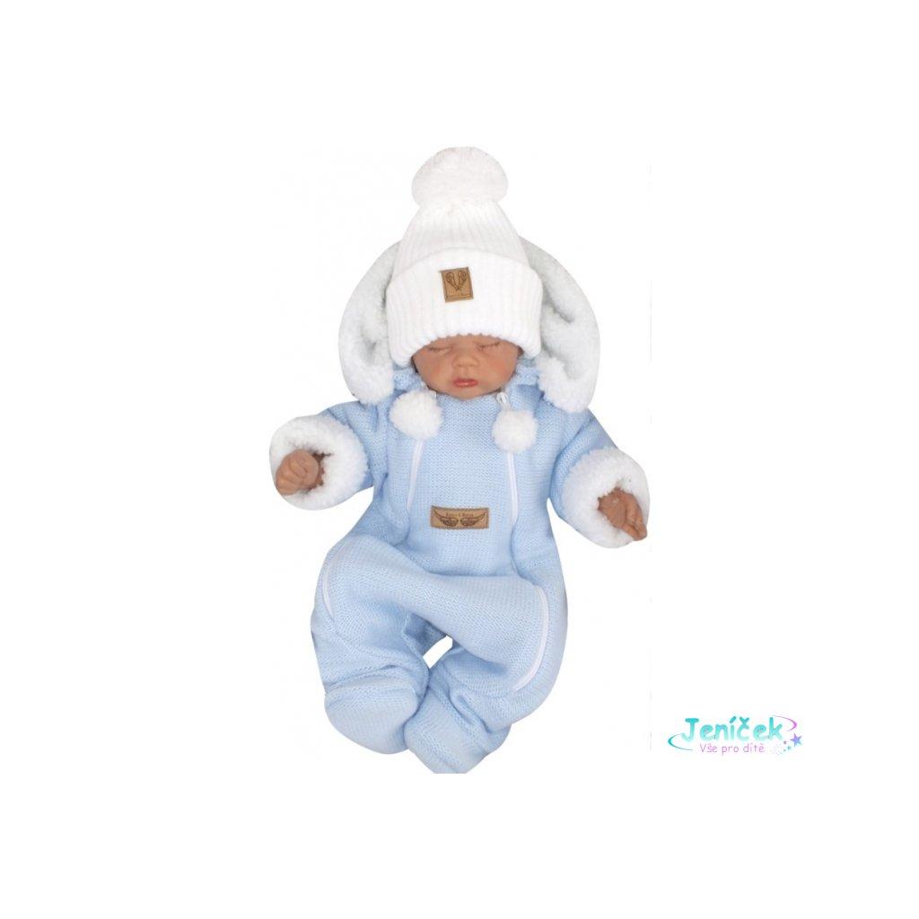 124405 220091 z z zimni pletena kombineza s odnimatelnou kapuci modra (1)